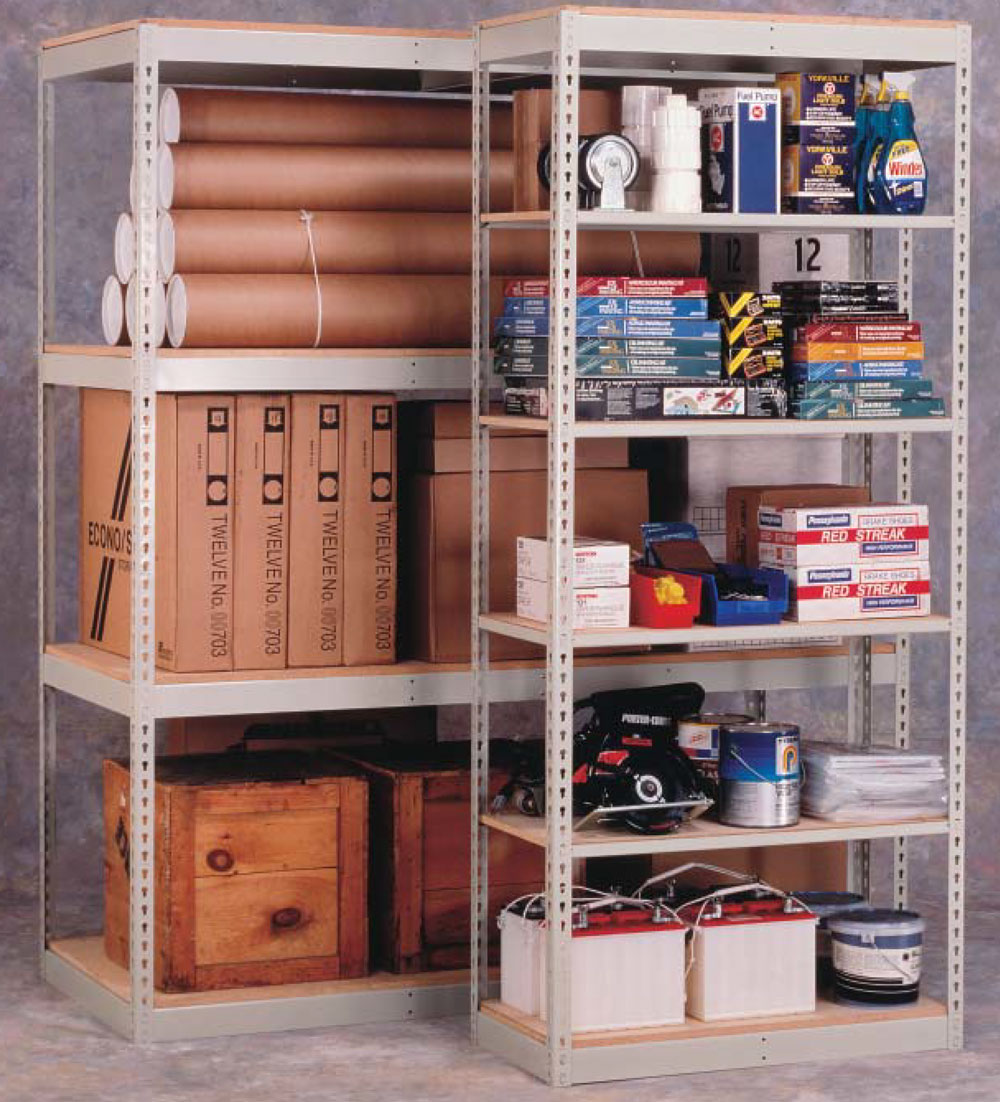 RivetRite shelving systems are universal and economical
